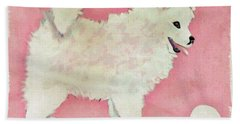 Fluffy Pup Hand Towel by Phyllis Kaltenbach