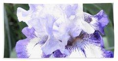 Fluffy Purple Iris Bath Towel