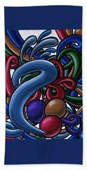 Fluid 1 - Abstract Art Painting - Chromatic Fluid Art Bath Towel