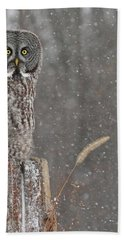 Flurries In The Forecast Bath Towel by Heather King