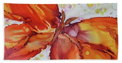 Bath Towel featuring the painting Flutter by Joanne Smoley