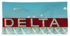Fly Delta Jets Signage Hartsfield Jackson International Airport Atlanta Georgia Art Hand Towel