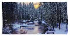 Fly Fisherman On The Metolius Hand Towel