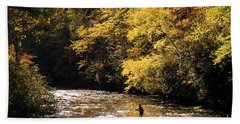 Fly Fisherman On The Tellico - D010008 Bath Towel by Daniel Dempster