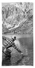 Fly Fishing In A Mountain Lake Bath Towel