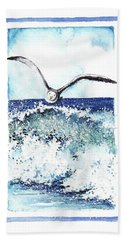 Hand Towel featuring the painting Fly High by Heidi Kriel