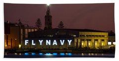 Fly Navy Bath Towel