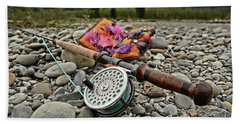 Fly Rod And Streamers Landscape Bath Towel