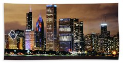 Cubs World Series Chicago Skyline Hand Towel by Horsch Gallery