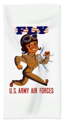 Fly - Us Army Air Forces Hand Towel