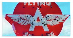 Flying A Service Sign Bath Towel by Joan Reese