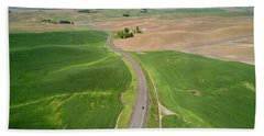 Flying Above Palouse Hand Towel