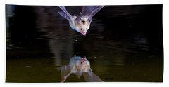 Flying Bat With Reflection Hand Towel