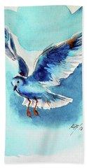 Flying Bird Hand Towel by Kovacs Anna Brigitta