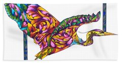 Flying Colors Bath Towel by Sherry Shipley