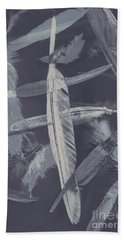 Flying Featherabstract Background Hand Towel