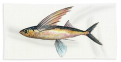 Flying Fish Bath Towel