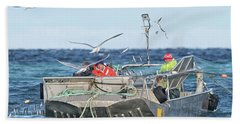 Bath Towel featuring the photograph Flying Fish by Randy Hall