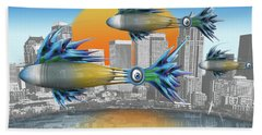 Hand Towel featuring the digital art Flying Fisque  by Steve Sperry