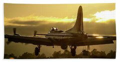 Flying Fotress Over The Numbers Bath Towel