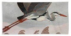 Flying Heron Bath Towel