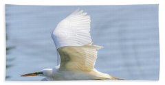 Flying Heron Hand Towel