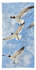Flying High Hand Towel by Jan Amiss Photography