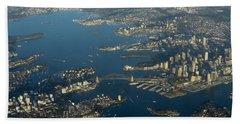 Flying Into Sydney Bath Towel
