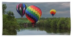 Flying Over The Androscoggin Bath Towel
