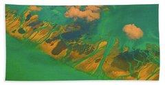 Flying Over The Keys, Florida Bath Towel