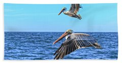 Bath Towel featuring the photograph Flying Pair by Robert Bales
