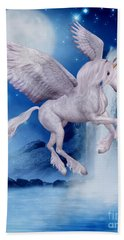 Flying Unicorn Hand Towel by Smilin Eyes  Treasures