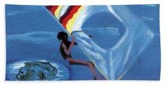 Flying Windsurfer Bath Towel