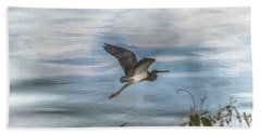 Bath Towel featuring the photograph Flyover by Judy Hall-Folde