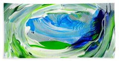 Bath Towel featuring the painting Foam 2 by Fred Wilson