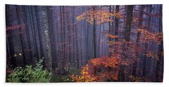 Bath Towel featuring the photograph Fog And Forest Colours by Elena Elisseeva