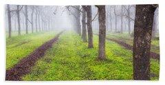 Fog And Orchard Bath Towel