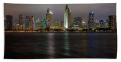 Fog Glow Over San Diego Hand Towel
