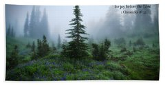 Bath Towel featuring the photograph Fog In The Forest by Lynn Hopwood