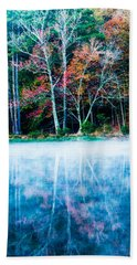 Fog On The Lake Hand Towel by Parker Cunningham