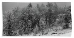 Bath Towel featuring the photograph Fog-shrouded Forest by Alan Vance Ley