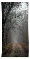 Fog Shrouded Lane  7861 Dp_2 Bath Towel