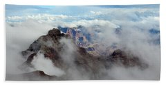 Fog Shrouded Vishnu Temple  Bath Towel