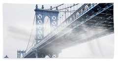 Fog Under The Manhattan Hand Towel by Az Jackson