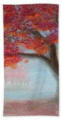 Foggy Autumn Bath Towel
