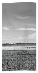 Foggy Day On A Marsh Hand Towel