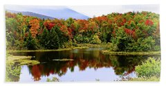 Foggy Fall Day In Vermont Bath Towel by Joseph Hendrix