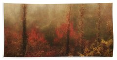 Foggy Fall On The Parkway Hand Towel