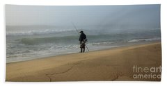 Foggy Fisherman Bath Towel by Mary Haber