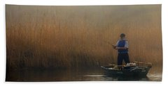 Foggy Fishing Hand Towel